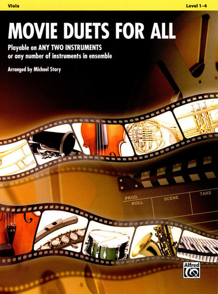 Alfred Music Publishing Movie Duets For All Viola