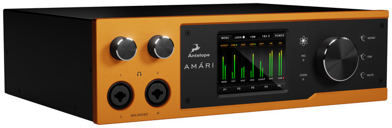 39f47269153 Antelope Amari; Mastering AD/DA converter; high-end conversion with 24 bit  / 384kHz for recording and playback; 2 headphone outputs (XLR/TRS combo  jack) ...