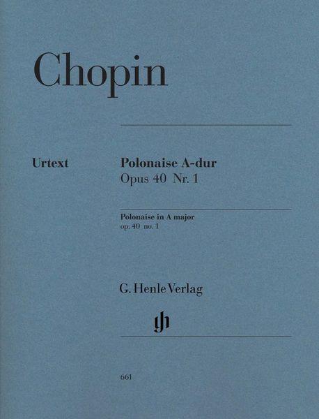 Henle Verlag Chopin Polonaise A-Dur op.40