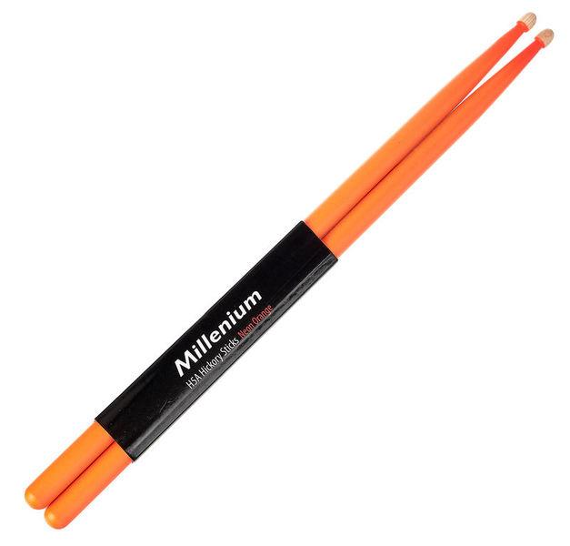 Millenium H5A Hickory Sticks Neon Orange