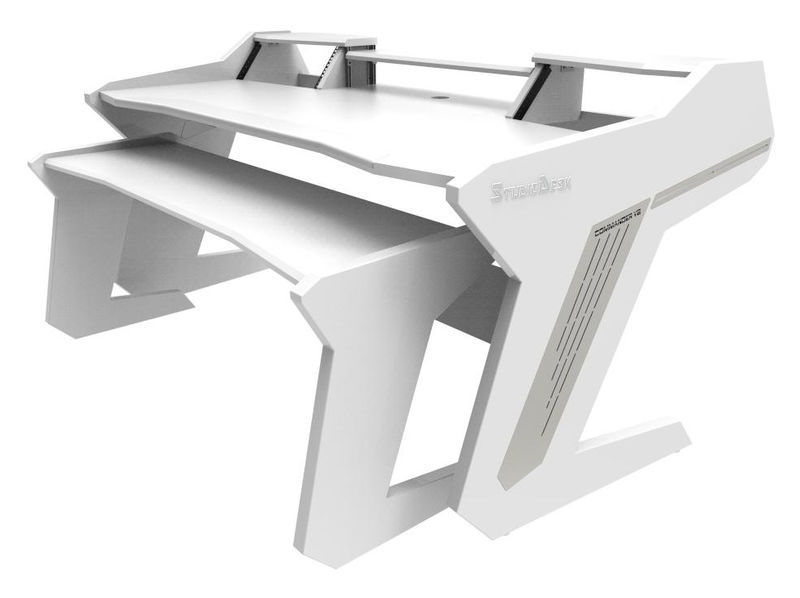Commander V2 Set All White Studio Desk
