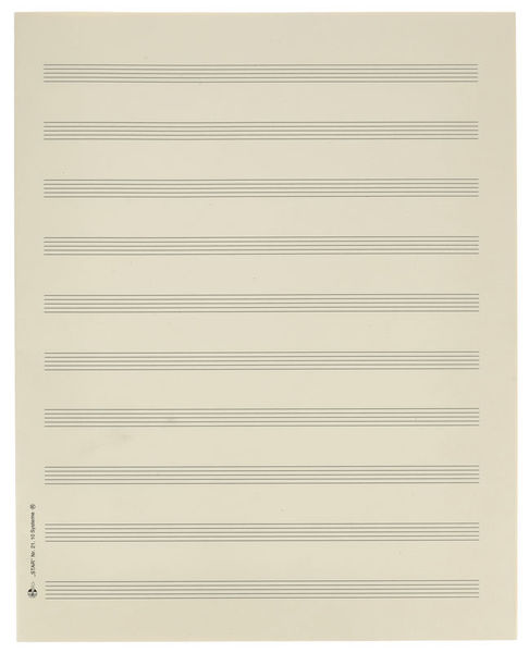 Star Sheet Music Paper Quart 10 mm