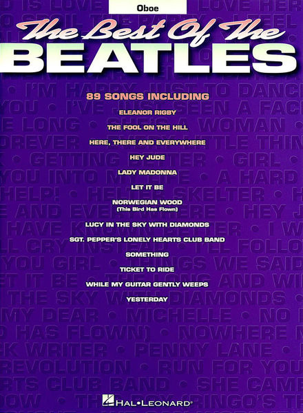 Hal Leonard Best Of The Beatles For Oboe