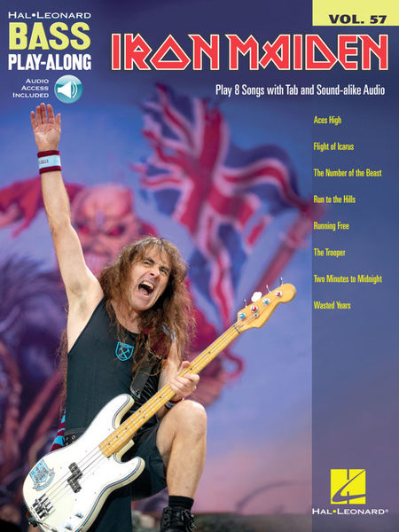 Hal Leonard Bass Play-Along Iron Maiden