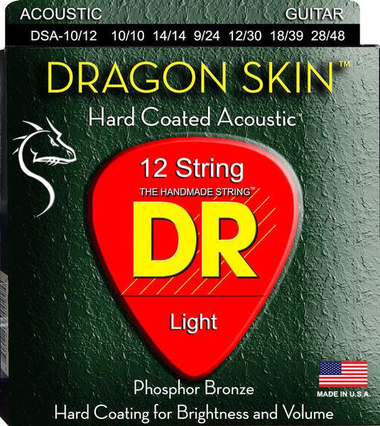 DR Strings Dragon Skin Acoustic 10-48 12s