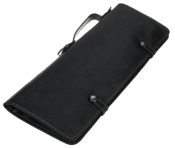 Zultan Leather Stick Bag Black
