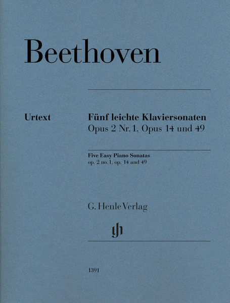Henle Verlag Beethoven Fünf leichte Klavier