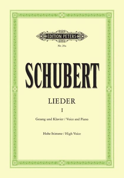 Edition Peters Schubert Lieder 1 High