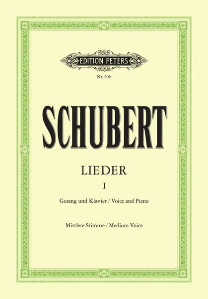 Edition Peters Schubert Lieder 1 Mittel
