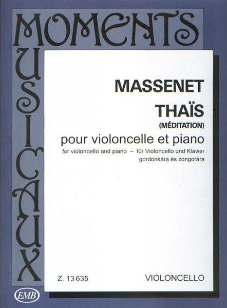 Edition Musica Budapest Massenet Méditation Cello