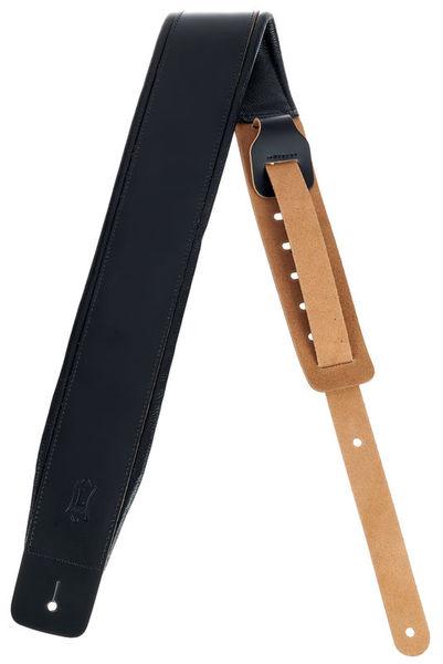 "Levys DM1 Leather Strap 3"" BK"