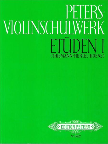 Edition Peters Violinschulwerk Etüden 1