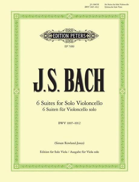 Edition Peters Bach Suiten Viola BWV1007-1012