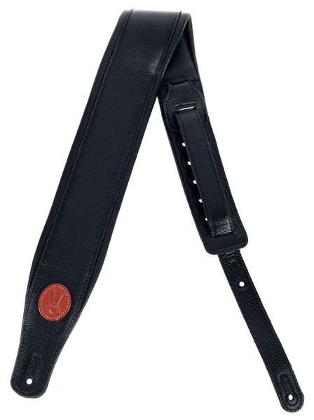 "Levys Pad. Garm. Leather Strap 3"" BK"