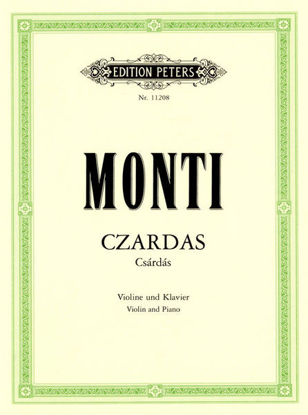 Edition Peters Monti Czardas Violin und Klav