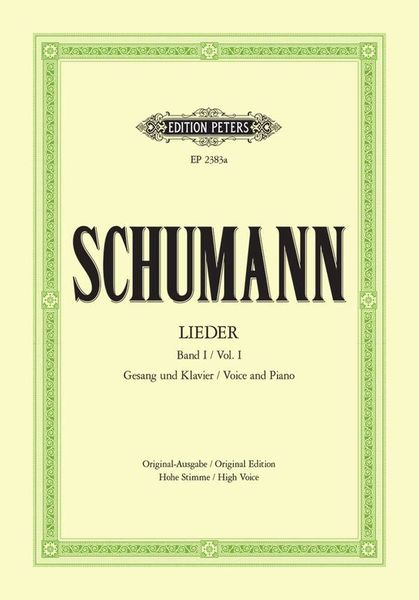 Edition Peters Schumann Lieder High Voice