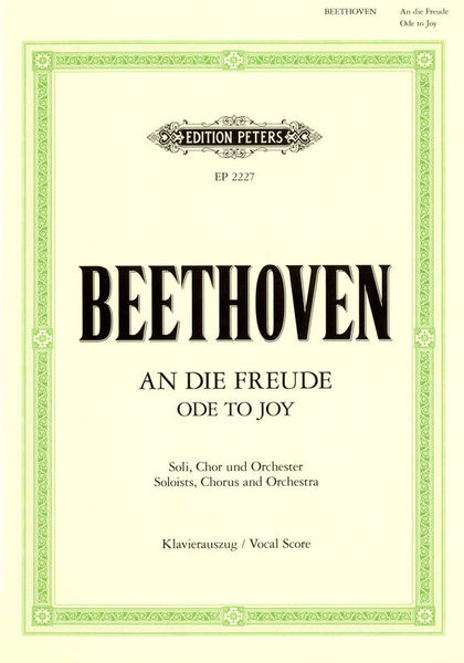 Edition Peters Beethoven An die Freude