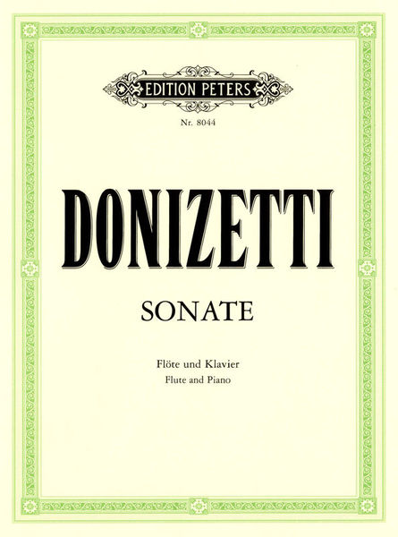 Edition Peters Donizetti Sonate Flute C-Dur