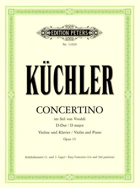 Edition Peters Küchler Concertino D-Dur op.15