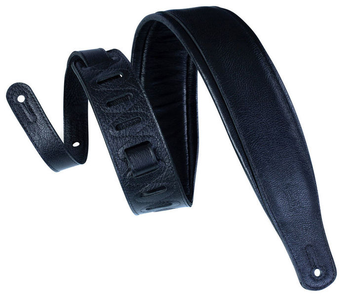 "Levys PM32 Pad. Leather Strap 3"" BK"