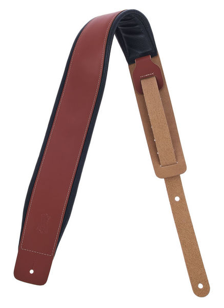 "Levys Padded Leather Strap 3"" WAL"