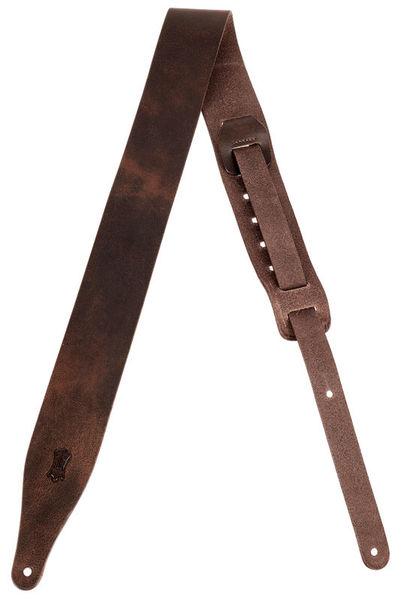"Levys Veg-tan Leather Strap 2,5"" DBR"