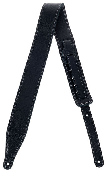 "Levys Soft Leather Strap 2,5"" BK"