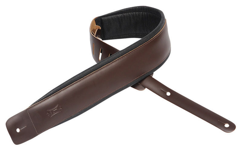"Padded Leather Strap 3"" DBR Levys"