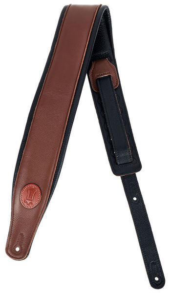 "Levys Pad. Garm. Leather Strap 3""BRN"