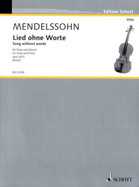 Schott Mendelssohn Lied ohne Worte