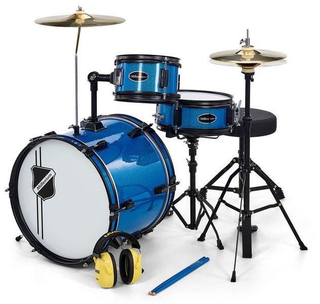 Millenium Youngster Drum Set Bundle Blue