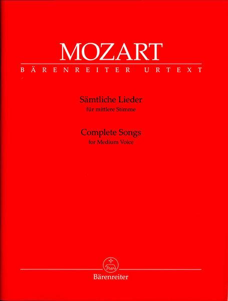 Bärenreiter Mozart Complete Songs