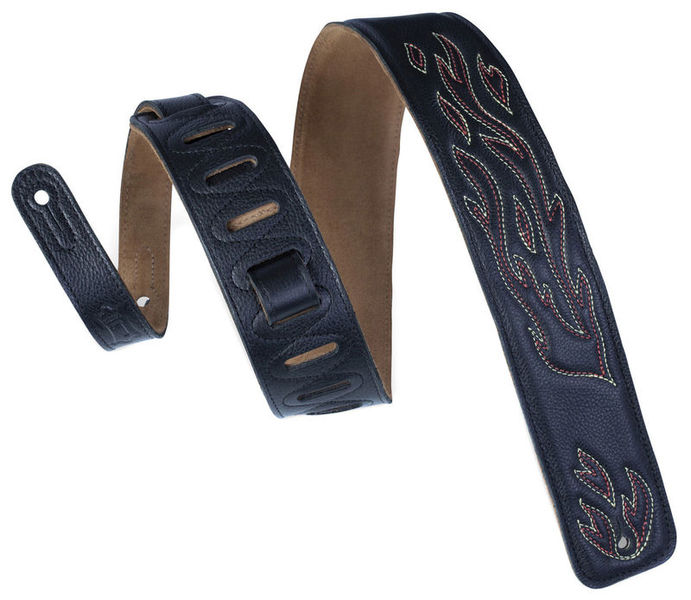 "Leather FL Strap 2,5"" BK Levys"