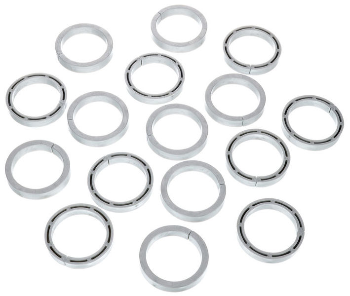 Stairville Snap Protector Ring Si 16pcs