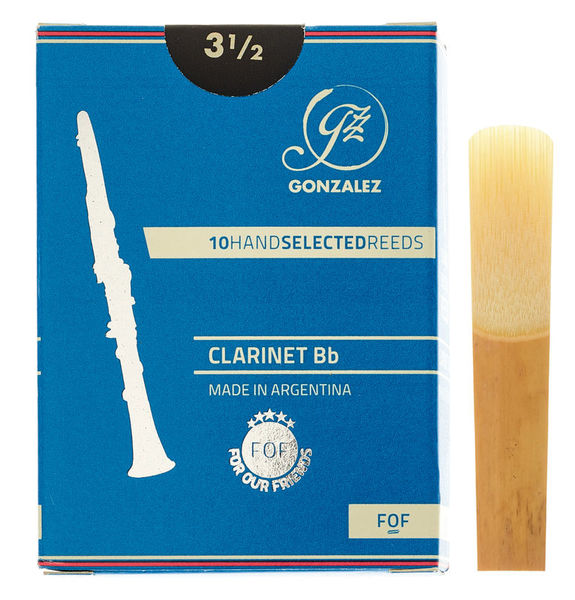 Gonzalez Bb Clarinet Reed FOF Cut 3,5
