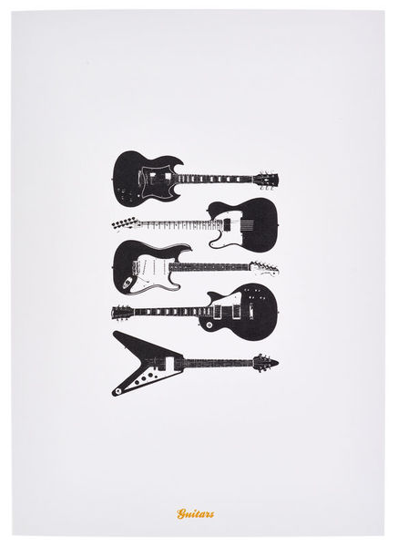 My World Guitars Greeting Card