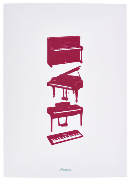 My World Pianos Greeting Card