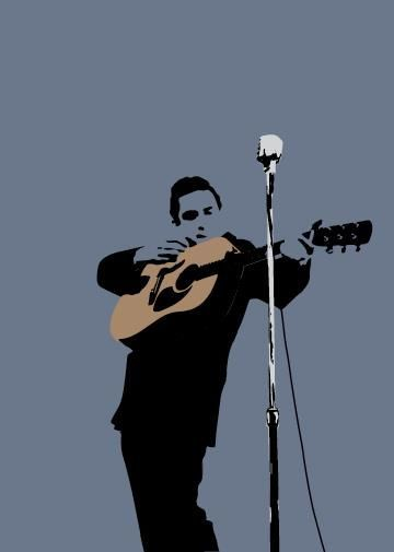 My World Johnny Cash Greeting Card