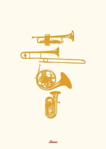 My World Brass Instrument Greeting Card