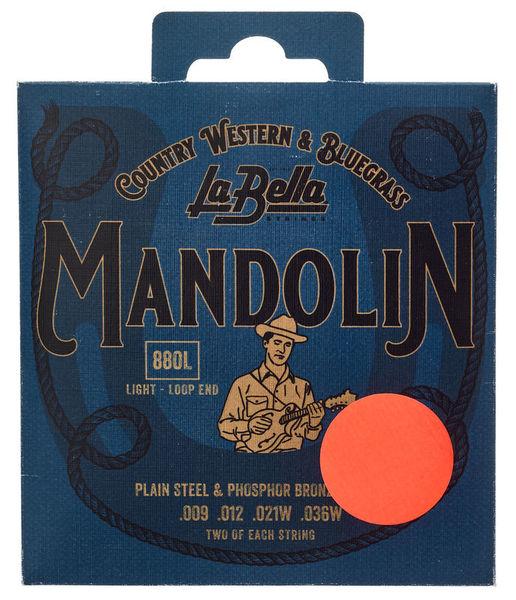 La Bella 880L Mandolin Ph.Br. Light