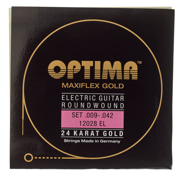 Optima 24 K Gold Plated Brian May Electric Guitar Strings .009-.042