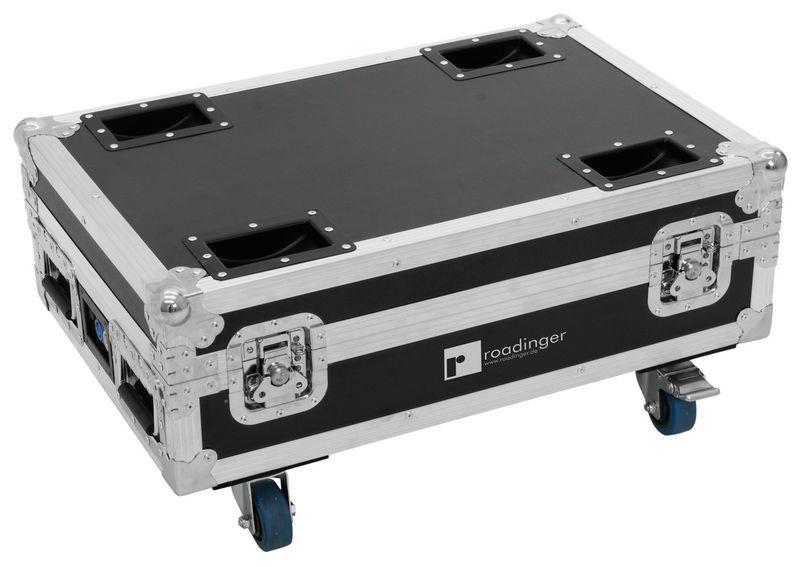 Roadinger Flightcase for 4x AKKU Bar 6