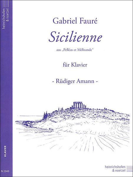 Heinrichshofen's Verlag Fauré Sicilienne op. 78 Piano
