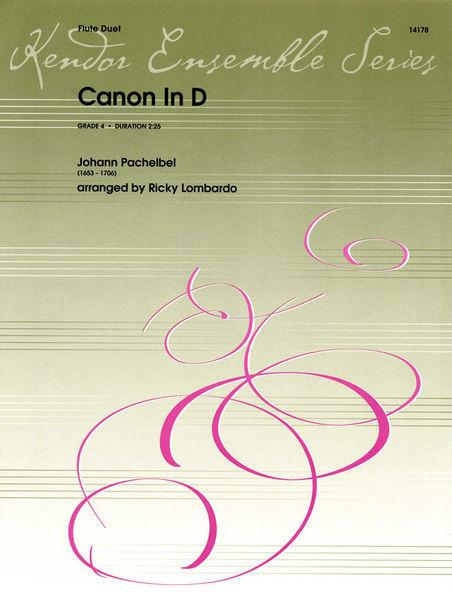 Kendor Music Pachelbel Canon in D Flutes
