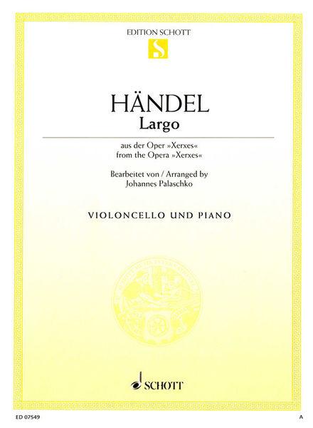 Schott Händel Largo Cello