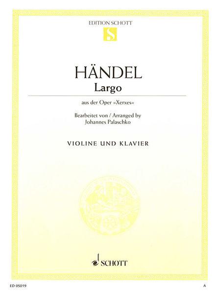 Schott Händel Largo G-Dur Violin