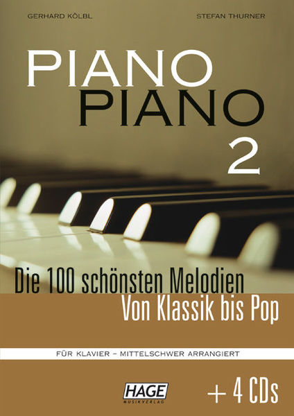 Hage Musikverlag Piano Piano Vol.2 Mittel +CDs