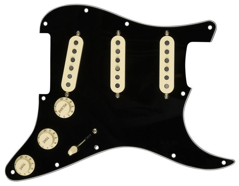 Pre-Wired ST Pickguard 50 BK Fender
