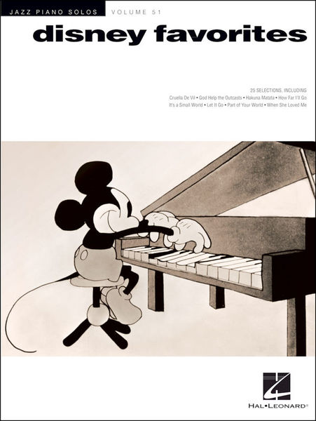 Jazz Piano Solos Disney Favs Hal Leonard