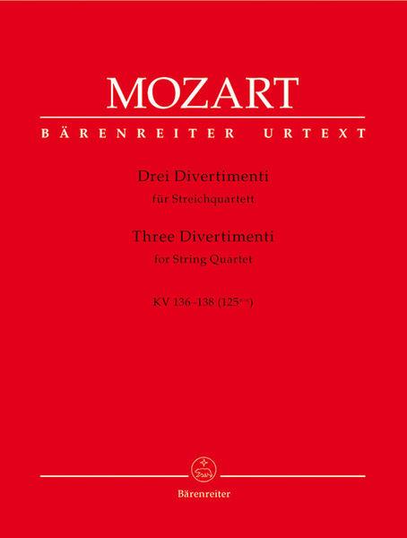 Bärenreiter Mozart Divertimenti Streichqt.